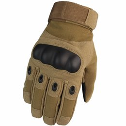 Safety Gloves Leather Australia - 2019 Men Leather Gloves Winter Man Tactical Gloves Full Finger Protective Safety Work Army