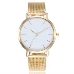 geneva platinum watches UK - New Geneva simple watch women's fashion network with quartz steel band watch gift hot style watches