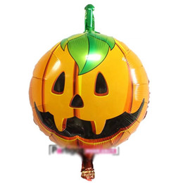 $enCountryForm.capitalKeyWord Australia - Halloween Aluminum Film Decoration Balloons 18 Inches 14 Designs Kids Toys Inflatable Cartoon Animal Pumpkin Printed Party Decoration 08