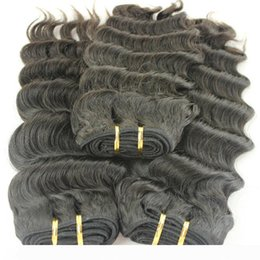 india weaves NZ - 3Pcs Lot India Human Hair Deep Wave Unprocessed Hair Weaves for white women Shipping fast