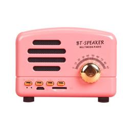 Multimedia Card Player Australia - 5W High Quality Sound Retro Mini Portable Bluetooth Speaker Subwoofer Heavy Bass Multimedia Radio U disk TF FM Handsfree Speaker