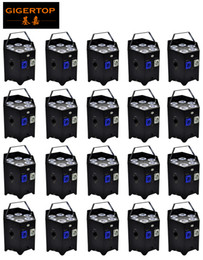 $enCountryForm.capitalKeyWord Australia - Factory Supply TIPTOP 20 units Indoor wedding Up Lighting 6*6w RGBWA UV Wireless 2.4g aluminum stage led par cans black white painting