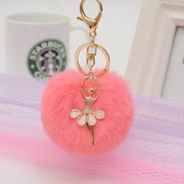 $enCountryForm.capitalKeyWord Australia - 2019 Creative Design Fashion Ballet Girl Hair Ball Pendant Little Angel Car Keychain Pendant Gift Jewelry