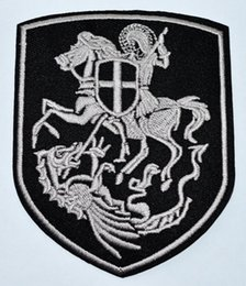 Dragon Patches Australia - Kill Dragon CRUSADER KNIGHT TEMPLAR Millitum Christi Millitary Morale Army SHIELD PATCH War Iron on Patche ( Size is about 8 cm * 10 cm )