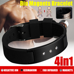 health magnets bracelets Australia - 4 in 1 Stainless Steel Magnetic Energy Armband Power Bio Bracelet Health Pain Relief Magnet Health Bracelet New