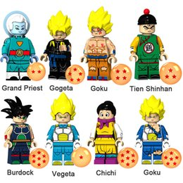 dragon ball mini toys NZ - Dragon Ball Z Grand Priest Gogeta Goku Tien Shinhan Burdock Vegeta Chichi Mini Action Figure Toy Building Block Bricks
