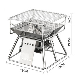 stainless bbq grills NZ - Exquisite Portable Stainless Steel BBQ Oven Set BBQ Grill for Outdoor Small Barbecue