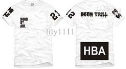 Hood Air Black Tee NZ - Free shipping Chinese Size S--XXXL summer tshirt HBA t shirt Hood By Air HBA X Been Trill Kanye West tee shirt 100% cotton 6 color