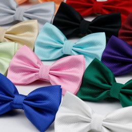 Fashion Bowties Australia - Hot Selling Plaid Bowties Groom Mens Solid Fashion Cravat For Men Butterfly Gravata Male Marriage Wedding Party Bow Ties BT-001 D19011003