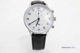 $enCountryForm.capitalKeyWord Australia - black leatcher white Dial blue number Chronograph quartz Sport Good Watch 371602 MAN silver case WATCH Wristwatch