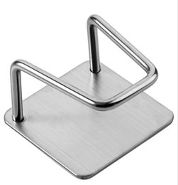 New Home Kitchen Stainless Steel Sponges Holder Self Adhesive Sink Sponges Drain Drying Rack Kitchen Sink Accessories Organizer on Sale