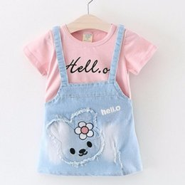 2b756cc921 Baby Girls dress Brand Summer Infant Baby clothes Hello Rabbit Denim  Overalls dresses jumpsuits for kids Dresses Cowboy