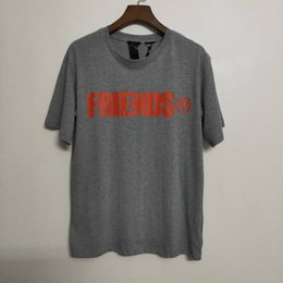 vlone friends t shirt Australia - VLONE FRIENDS Lightning OVERSIZE T-shirt Cement ash Mens Tee