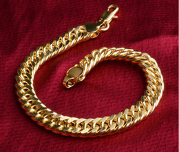 $enCountryForm.capitalKeyWord NZ - Hot New Luxury 18K Gold Plated Bracelet 8mm Figaro Chain Bracelet For Women Men Bracelet Birthday Gift