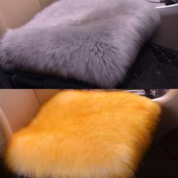$enCountryForm.capitalKeyWord Australia - Autumn and Winter Warm Car Seat Cushion Piece Wool Single Cushion Cover Beautiful Sofa Waist Throw Pillows Office Chair Lumbar