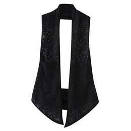 Loose crochet shawL online shopping - K7 Summer Casual Women Vest XL Plus Size Clothes Fashion Sleeveless Lace Hollow out crochet Loose shawl
