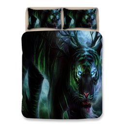 $enCountryForm.capitalKeyWord Australia - Bedding Sets Full Kids Boys Original Goldfish Tiger Art Luxury Bedding Sets Paradise Lion Pattern Pillow Case Bed Set Cartoon Twin King Size