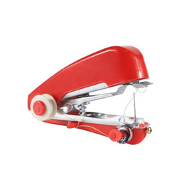 Wholesale korean sewing machine resale online - Mini Handheld Sewing Machine Home Travel Use Stitching Machine Portable Multi Functional Tenbeautiful hc UU