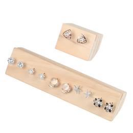 $enCountryForm.capitalKeyWord NZ - Wooden Stud Earring Display Stand Holder Jewelry Holder Earrings Display Stand With Free Shipping Wood Jewelry Storage Organizer