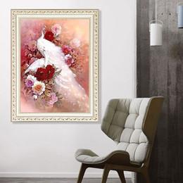 $enCountryForm.capitalKeyWord Australia - 1pcs DIY 5D Diamond Painting Kits Embroidery Peony Peacock Cross Stitch kits living room mosaic pattern Home Decor 30*40cm