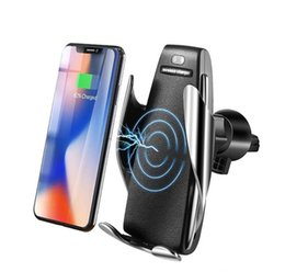 $enCountryForm.capitalKeyWord Australia - S5 Car Wireless Charger Automatic Sensor For iPhone Xs Max Xr X Samsung S10 S9 Intelligent Infrared Fast Wirless Charging Car Phone Holder h