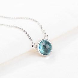 $enCountryForm.capitalKeyWord NZ - hot new 925 sterling silver aurora necklace female Korean small fresh blue gradient round temperament jewelry GN847