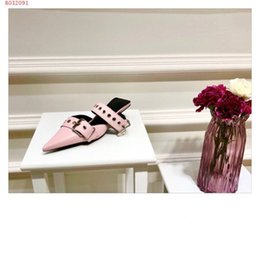 Fashionable Flat Shoes Laces NZ - 2019 women sandals, spike flats, Fashionable women shoes with nail holes ,size 34-42, heel height 4 cm