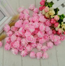 Venta al por mayor de 500 unids Espuma Flor Falsa Pe Rosas Rosas Flores Artificiales Decoración de La Boda para Scrapbooking Caja de Regalo