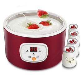 venda por atacado Inteligente máquina de iogurte digital temperatura constante casa automática mini copo de vinho de arroz natto máquina de aço inoxidável forro