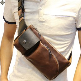 $enCountryForm.capitalKeyWord Australia - Hot 2019 New Arrival Fashion Leather Men Messenger Bags High Quality Casual Small Chest Packs Vintage Brown Shoulder Bags Bolsos MX190817