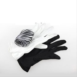 kids magic gloves wholesale NZ - Gloves Turn Into A Long Black Silk Magic Prop Magic Stage YH1847