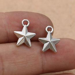 $enCountryForm.capitalKeyWord Australia - charm pendant 10pcs Tibetan Silver Plated 3d Star Charms Pendants For Jewelry Making Diy Craft Handmade 15x12mm