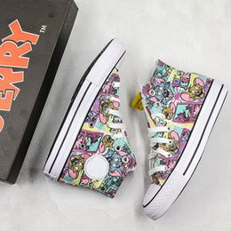 original star canvas shoes NZ - Conversing Taylor STAR Chuck 70 Hi Tom & Jerry Canvas Shoes Graffiti High Half Size Originals Classic Skateboard Sneakers Girls Mens