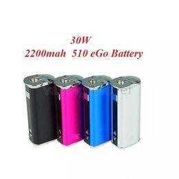 Опт Мини 30 Вт батарея 2200 мАч переменное напряжение VV VW Box Mod комплект с OLED-экраном для Ego 510 резьба Sub ом бак форсунки