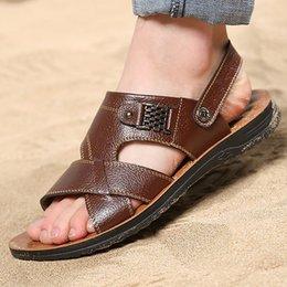 $enCountryForm.capitalKeyWord Australia - High quality Men sandals Beach shoes Breathable Solid Mens Summer Shoes Hard-wearing 2019 Fashion sapato masculino #99077
