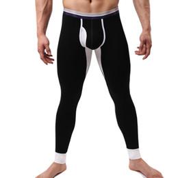 Tights Bodybuilding Legging Australia - 2017 Hot Mens Winter Thermal Underwear Bodybuilding Pants Sexy Long Johns Warm Leg Mens Long John Tights Leggings