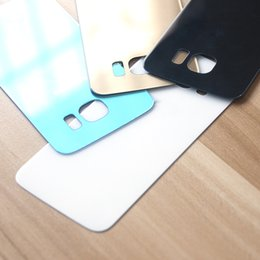 $enCountryForm.capitalKeyWord Australia - wholesale For Samsung Galaxy S6 Back Glass Housing Rear Panel Plate Battery Door Back Case Chassis Frame For SAMSUNG S6