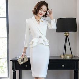 07b6d6e0d Elegante Traje Blanco De Damas Online | Elegante Traje De Pantalón ...
