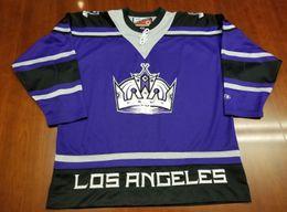 $enCountryForm.capitalKeyWord NZ - Wholesale Custom Los Angeles Kings Vintage Pro Player Cheap Hockey Third Jersey Purple Mens Retro Jerseys