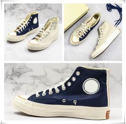 $enCountryForm.capitalKeyWord Australia - Fashion New Arrival Chunk 70s Unique High Shoes Natural Canvas Boots Unisex Canvas Board Shoes Beige Blue Splice Designer Trainer Sneaker