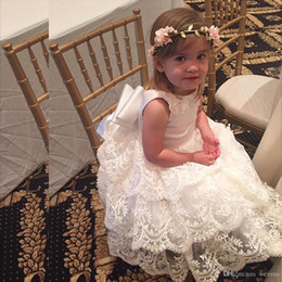 Wedding Dress Cake Images Australia - Lovely White Cake Tiered Bottom Flower Girls Dresses Jewel Neck Appliques With Sequin Kids Communion Dress Custom Made Child Prom Gown