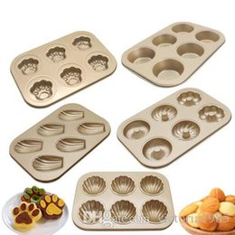 Cute Cupcakes Australia - New Pan Muffin Cupcake Cute Cat Claw Paw Bake Cake Mold Bakeware Oven Pan Mould Baking Tool Egg Tart Mold