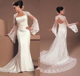 Organza Wraps Jackets Australia - 2019 Bridal Accessories new hot sell Bridal Wraps Fashion explosion Wedding jacket shawl horn long sleeve