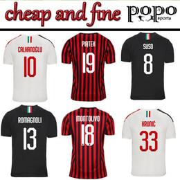 Cheap new soCCer jerseys online shopping - New AC milan Cheap and Fine Soccer jersey football shirt HIGUAIN PAQUETA CALDARA CUTRONE Camisa CALHANOGLU PIATEK