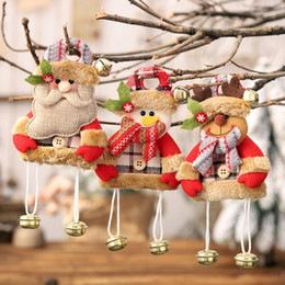$enCountryForm.capitalKeyWord NZ - 1PC New Year Christmas Decorations for Home Tree Ornaments Cloth Doll Dancing Santa Claus Snowman Deer Hanging Pendant Gift