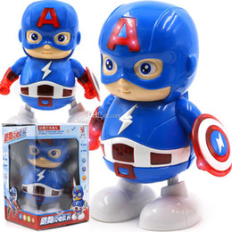 Figures Australia - Marvel Avengers Endgame Super Heroes dance Captain America With led and music Mech Model Toys Collection Action Figures kids toys