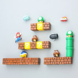 Magnet stickers for kids online shopping - 3D Super Mario Resin Fridge Magnets Mario Fridge Magnets for Kids Home Decoration Ornaments Wall Figurines Decor
