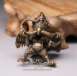 $enCountryForm.capitalKeyWord Australia - Dapeng bird protection method copper carving small pendant brass Tantric Buddha small ornaments copper medicine key chain hanging antique mi