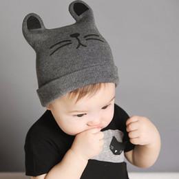 b633505a0ce hat newborn Baby Hats Newborn Cartoon Knitting Cap Toddler Kids Boys Girls  Cat Ear Beanie Cap Infant Autumn Winter Warm Hat