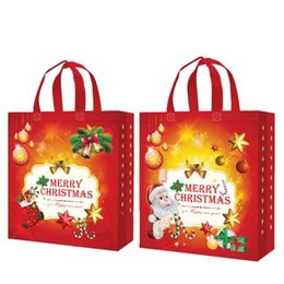 Gift Woven Christmas Bags NZ - 8Pcs Nov-Woven Pattern Printed Christmas Holiday Gift Bags Durable Party Supplies J2Y